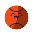kawaii basketball ball icon image vector image vector image