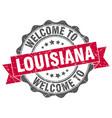 Louisiana round ribbon seal vector image