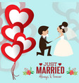lovely sweet couple wedding vector image