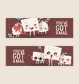 mail envelope mailed post emoticon mailing lovely vector image
