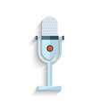 Microphone Flat Design isolated on white vector image vector image