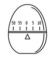 modern stopwatch icon outline style vector image