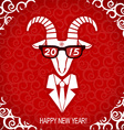 New year goat wear in business suit and glasses vector image vector image