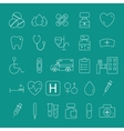Outlined Medical Icons Set Collection trendy thin vector image vector image