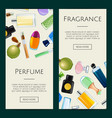 perfume bottles web banner templates vector image