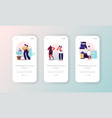 photography courses mobile app page onboard screen vector image vector image