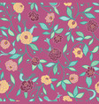 pink birds on roses seamless pattern vector image