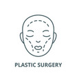 plastic surgery line icon linear concept vector image vector image