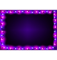 Purple Christmas Lights Background vector image vector image