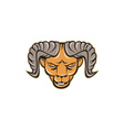 Ram Head Isolated Cartoon vector image vector image