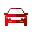 Red car icon Transportation machine design vector image