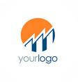 round business finance logo vector image