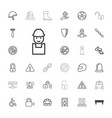 safety icons vector image vector image