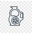 sangria concept linear icon isolated on vector image