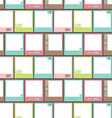 seamless pattern with photo frame vector image vector image
