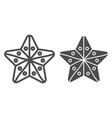 starfish line and glyph icon aquatic vector image