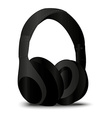 Stereo black Headphone vector image