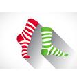 stripped socks vector image vector image