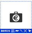 suitcase icon flat vector image vector image