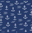 summer seamless pattern with anchors cute sea vector image vector image