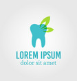 tooth logo template with sample text vector image