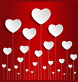 valentines day and wedding background vector image vector image