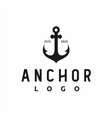 vintage retro anchor silhouette for boat ship vector image vector image