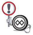 with sign tenx coin character cartoon vector image vector image