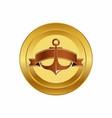 golden anchor design vector image