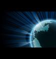 earth with orbit data big data vector image