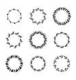 hand drawn circle frames vector image