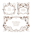 Set of elegance vintage frames vector image