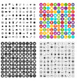 100 stopwatch icons set variant vector image vector image