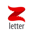 Abstract logo letter Z in the form of wings vector image