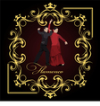 al 0304 flamenco poster 02 vector image