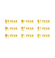 anniversary of company gold negative space sign vector image