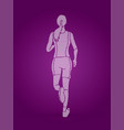 athlete runner a woman runner running vector image