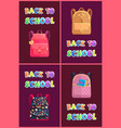 back to school posters set vector image vector image