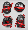 black friday sale flyers set for business vector image