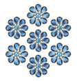 Blue Flowers of Sapphires vector image vector image