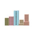 building set city closeup colorful silhouette vector image
