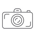 camera thin line icon lens and photo shutter vector image vector image