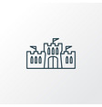 castle icon line symbol premium quality isolated vector image
