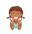 Children braces happy african american girl vector image