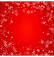 christmas blizzard snowfall made from flat vector image vector image