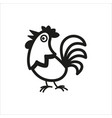 cock icon in simple monochrome style vector image vector image