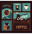 coffeeshop vintage posters collection coffee vector image