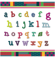 Color alphabet set vector image vector image