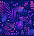 colorful neon exotic leaves gradient tropical vector image