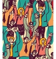 Crowd happy business people seamless pattern vector image vector image